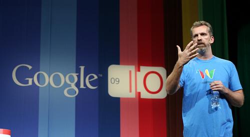 Lars Rasmussen bei der Vorstellung von Google Wave