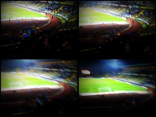 Blick aus der Virage Est ins Saarbrücker Ludwigsparkstadion