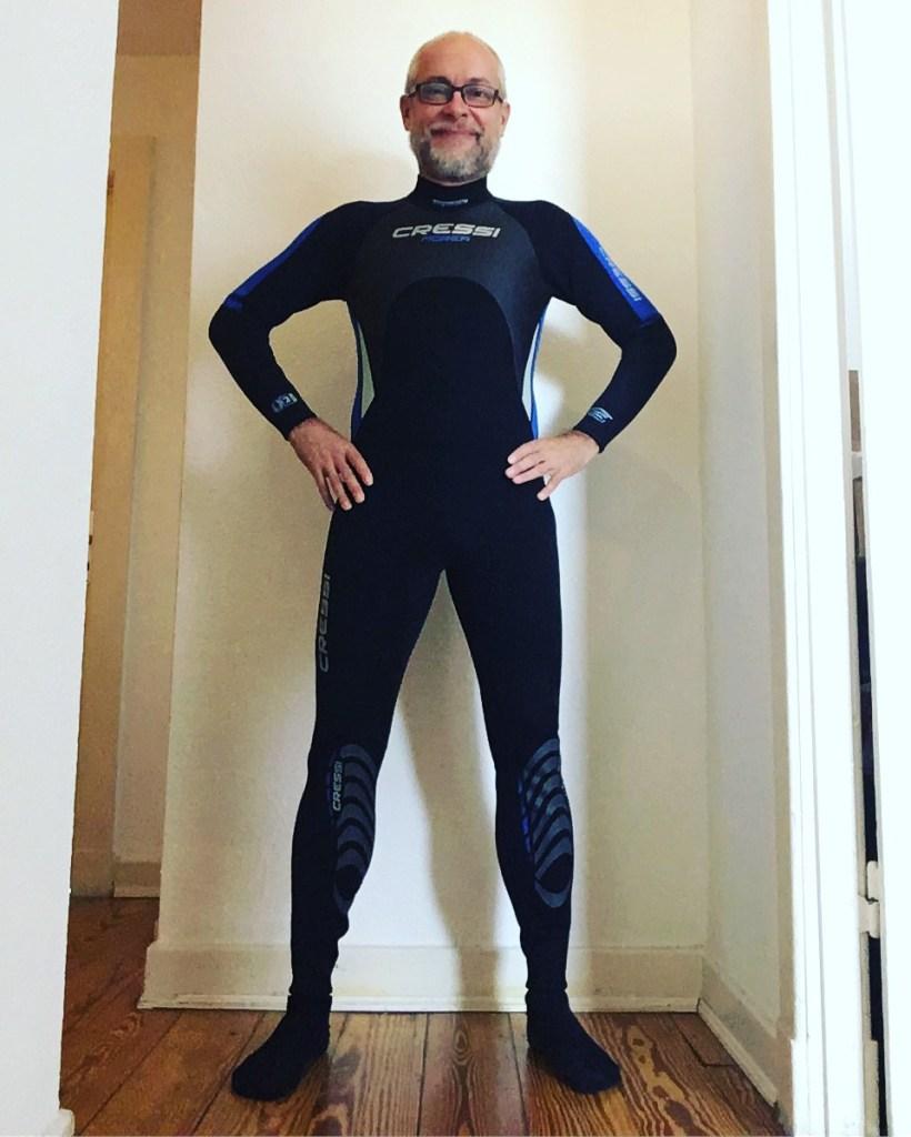 Markus im Neopren-Anzug