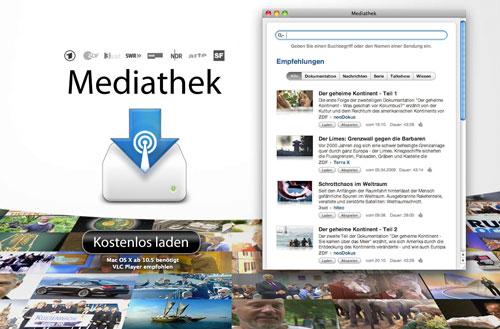 Mediathek - Mac-Software zum Abspeichern von TV-Programmen aus Mediatheken der ÖR-Sender