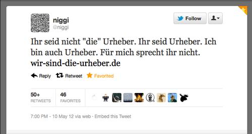 Tweet der Woche von @niggi