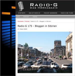 Radio-G zum Bloggertreffen in Sibirien