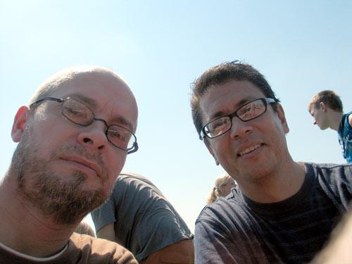 René und Markus auf der Fähre