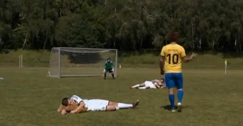 Fußballfloskeln wörtlich genommen
