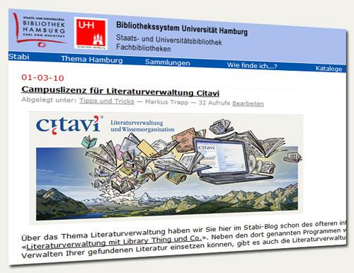 Stabi-Blog-Artikel zu Citavi