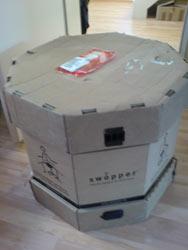 Die Swopper-Versandbox: hier muss er rein!