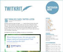 Twitkrit zu Listen