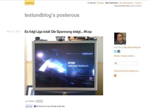 Posterous - mein Blog für dies & das zwischendurch