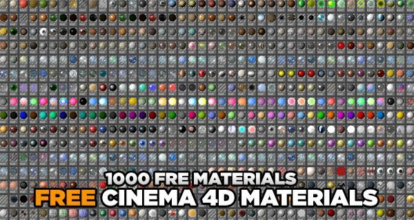 1000 free cinema 4d materials