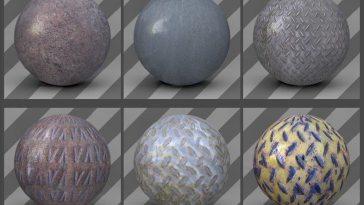 free cinema 4d textures - metal textures 03