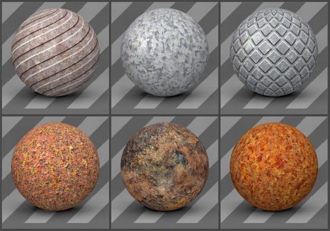 free cinema 4d textures - metal textures 08
