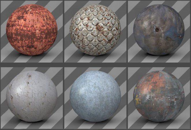 free cinema 4d textures - metal textures 01