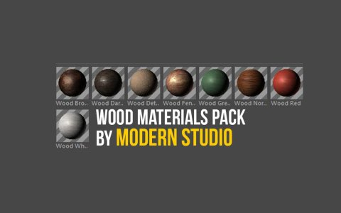 Wood Materials Cinema 4D Preset