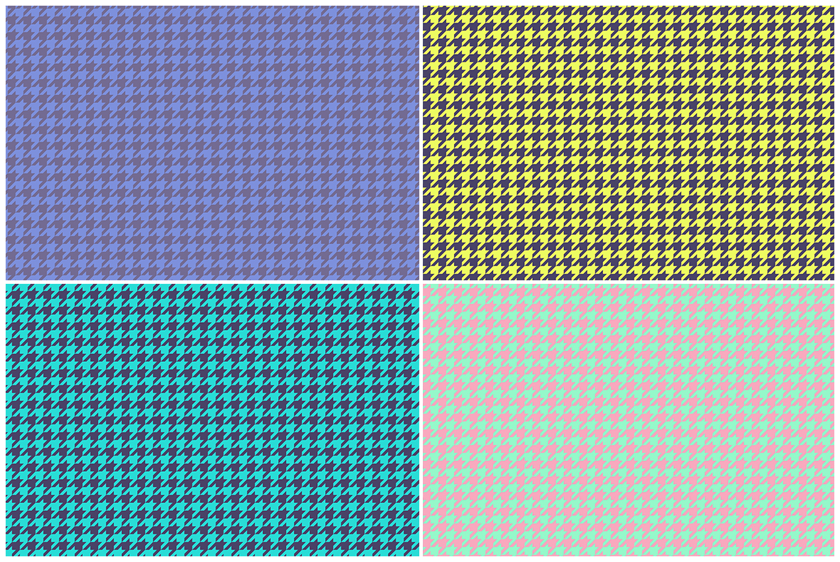 Houndstooth Pattern Preview Set 3