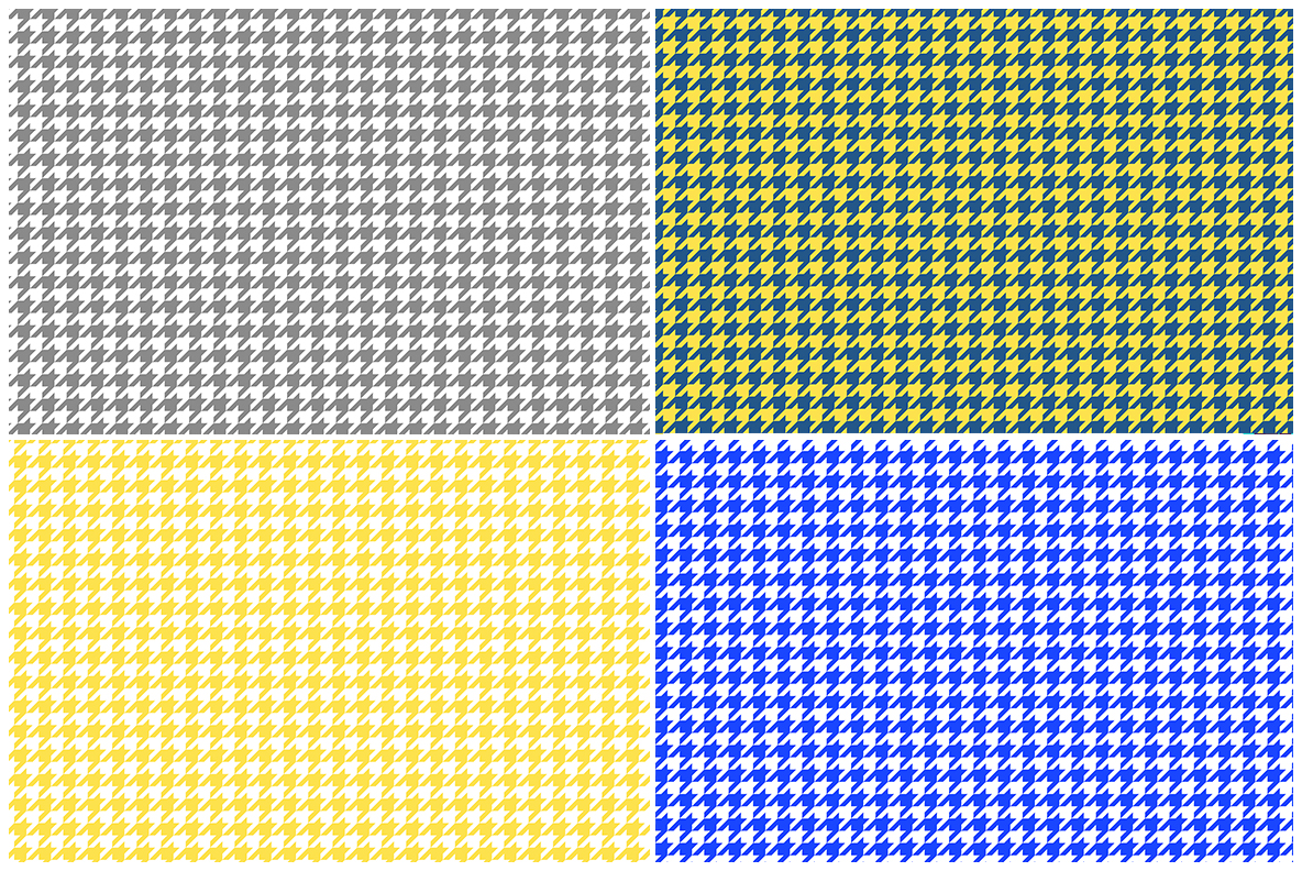 Houndstooth Pattern Preview Set 5