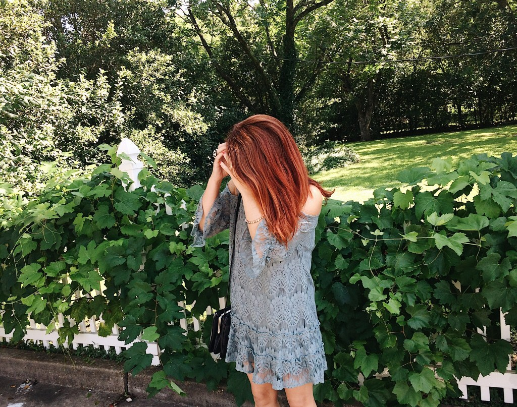 lace, lace dress, red hair, ivy, hurricane harvey
