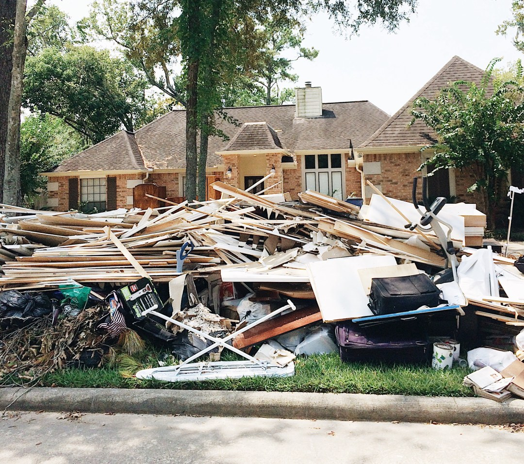 stacked debrc, hurricane damage, hurricane harvey, natural tragedy