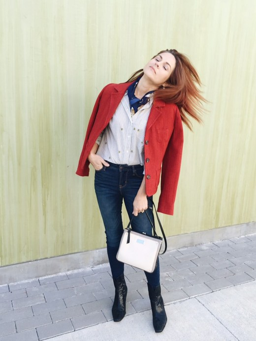 blazers, red blazer, red jacket, casual style, thanksgiving outfit