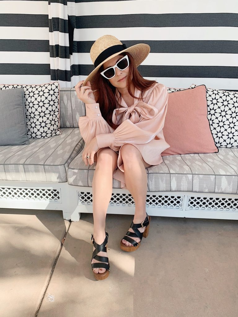 resort wear, comfortable chic style, style bloggers, how to style pink dresses