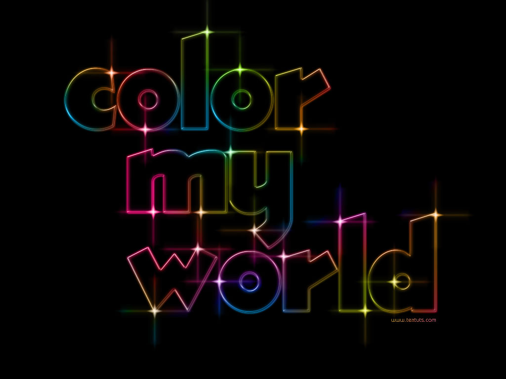 Colorful Light Text Effect Textuts