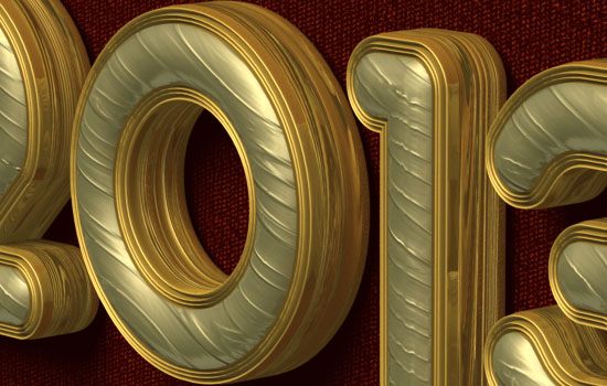 Royal 3D Text Effect Photoshop Pleat Chair Font  Textuts