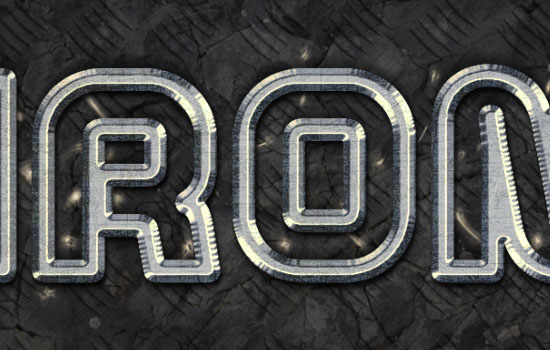 Sparkling Iron Text Effect step 8