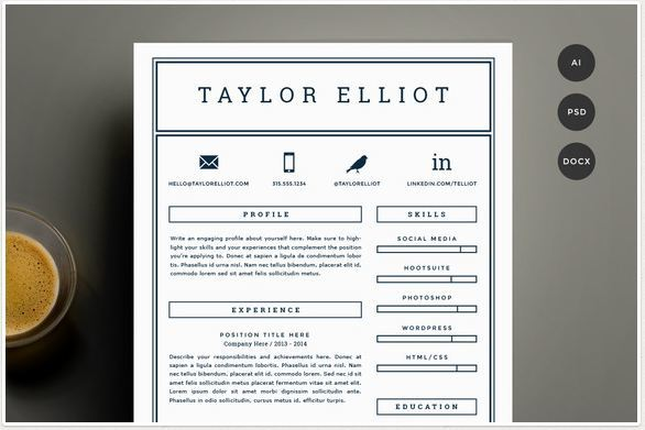 creative simple resume template word
