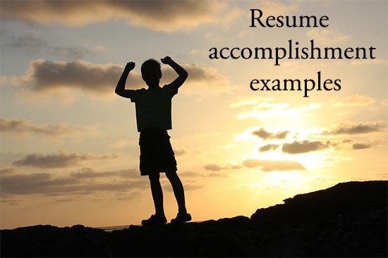 examples of accomplishments for resume