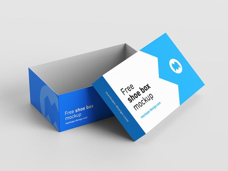 Download 23 Shoe Box Mockup Design Templates (Square & more ...