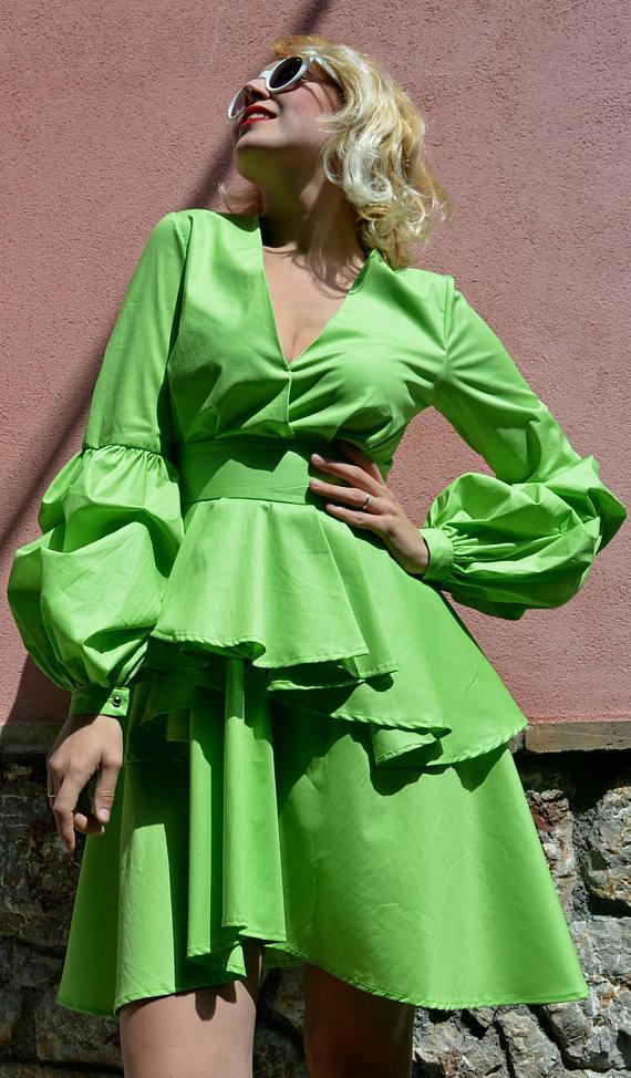 light green cotton summer dress
