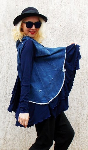 denim avant garde jacket