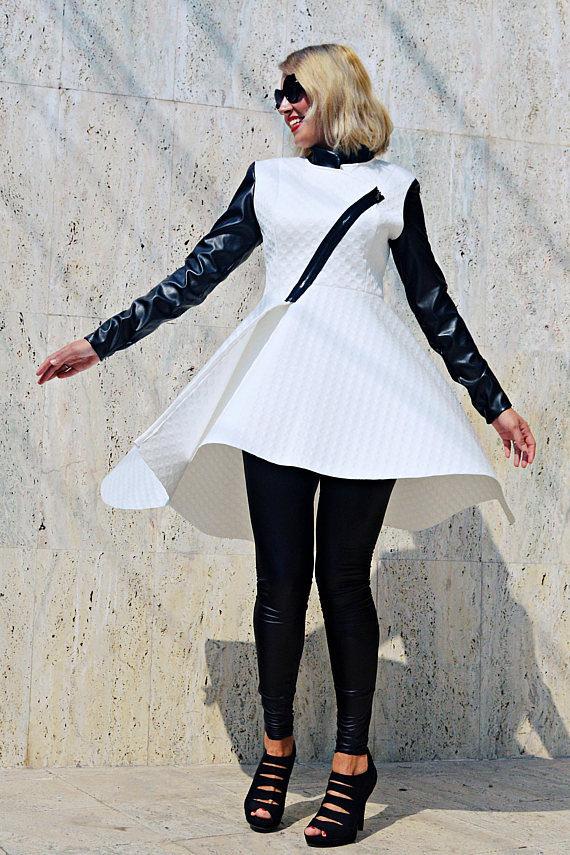 white neoprene jacket