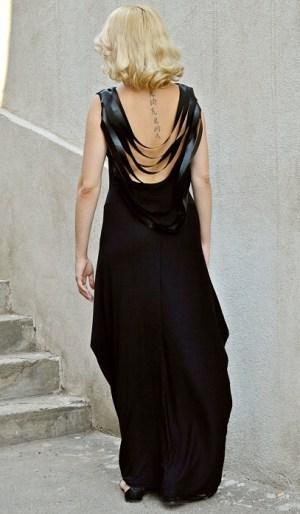 extravagant backless dress