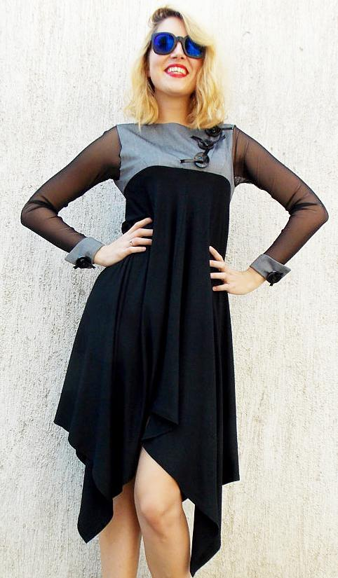 flared asymmetrical dress