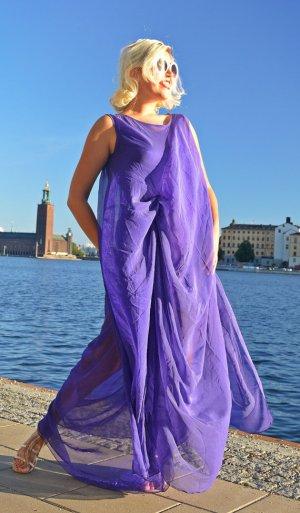purple sheer summer dress