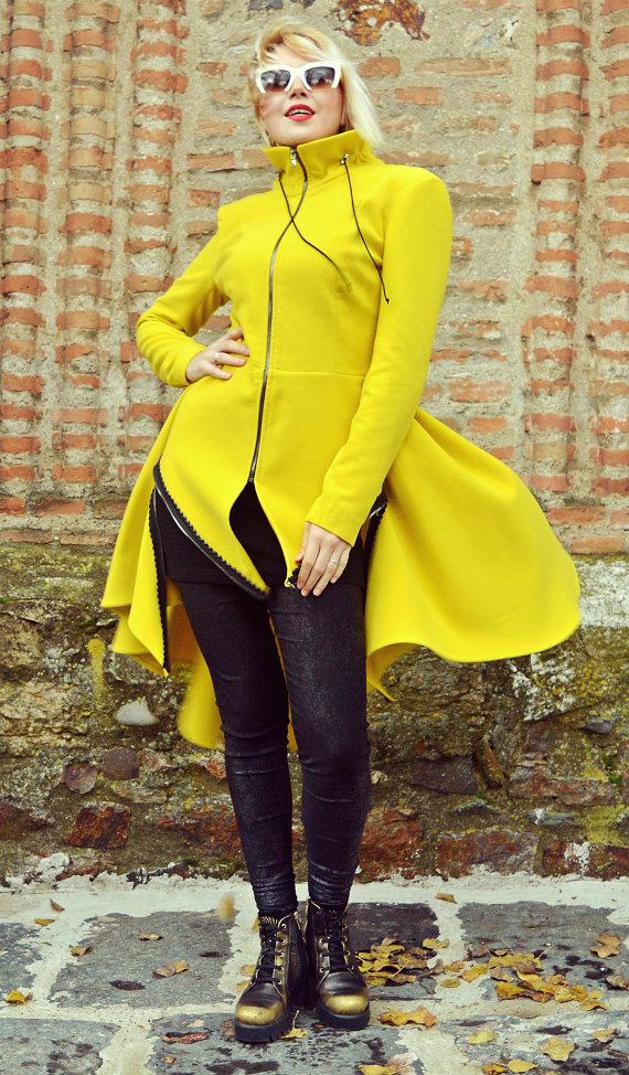 lemon yellow coat