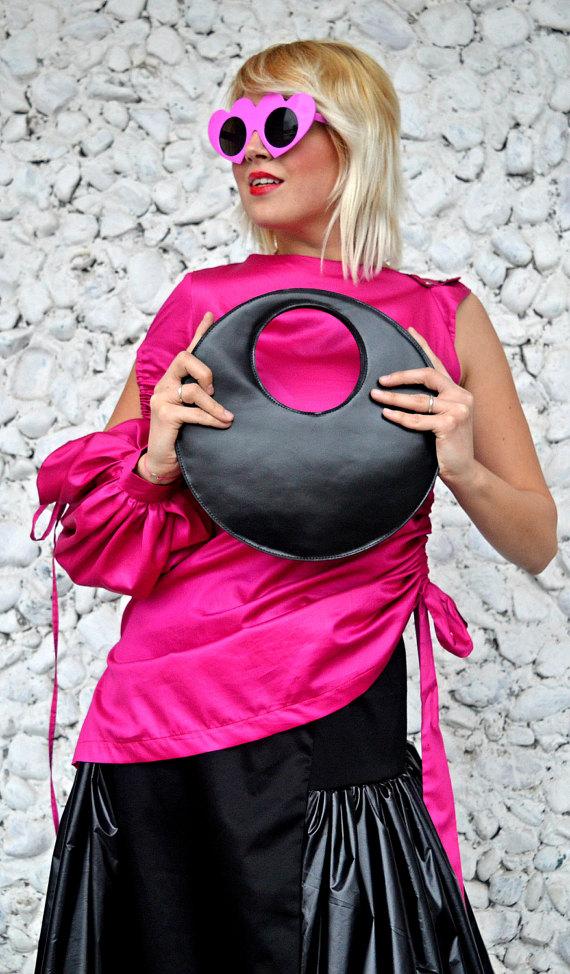extravagant leather bag