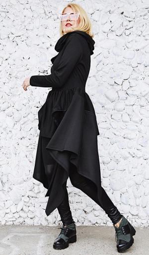 black convertible hoodie