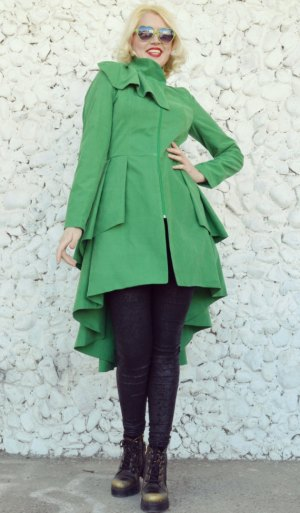 green taffeta jacket