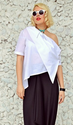 deconstructed white blouse