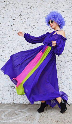 party purple dress