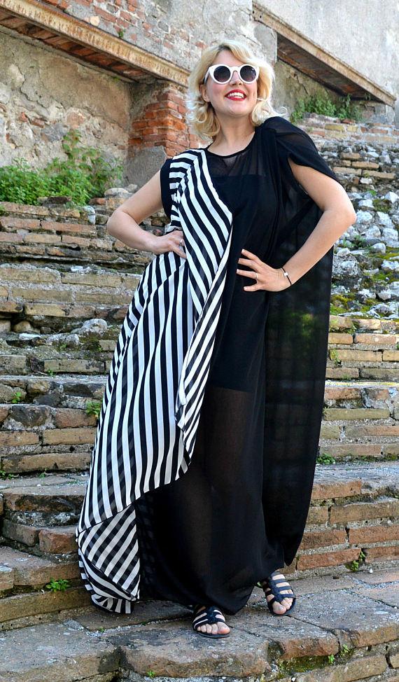 striped summer kaftan