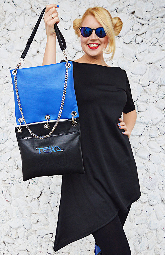 detachable leather bag