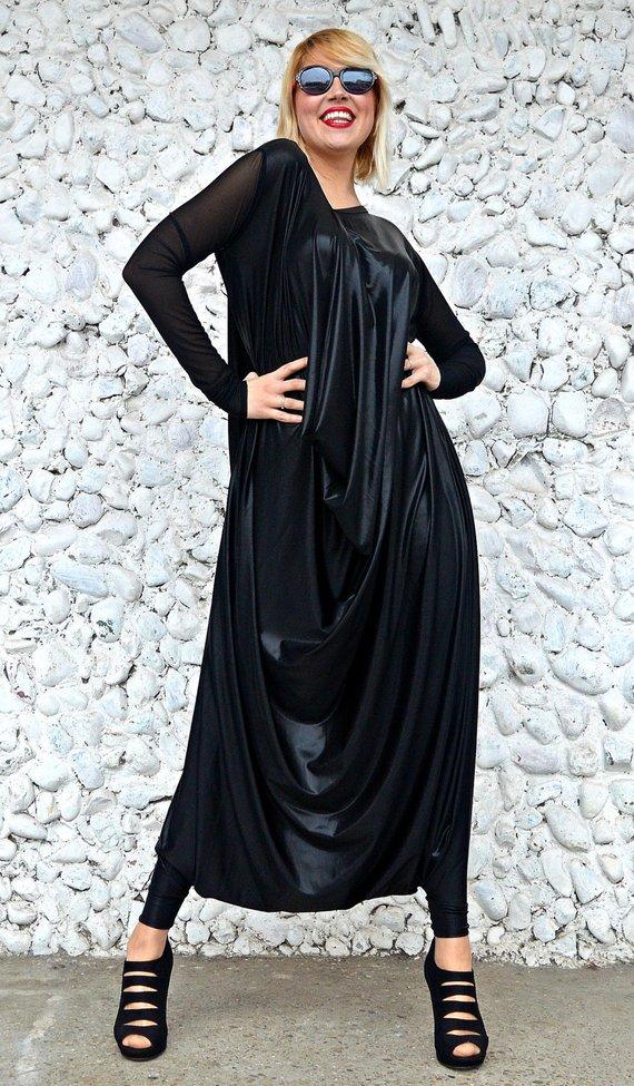 black latex jumpsuit