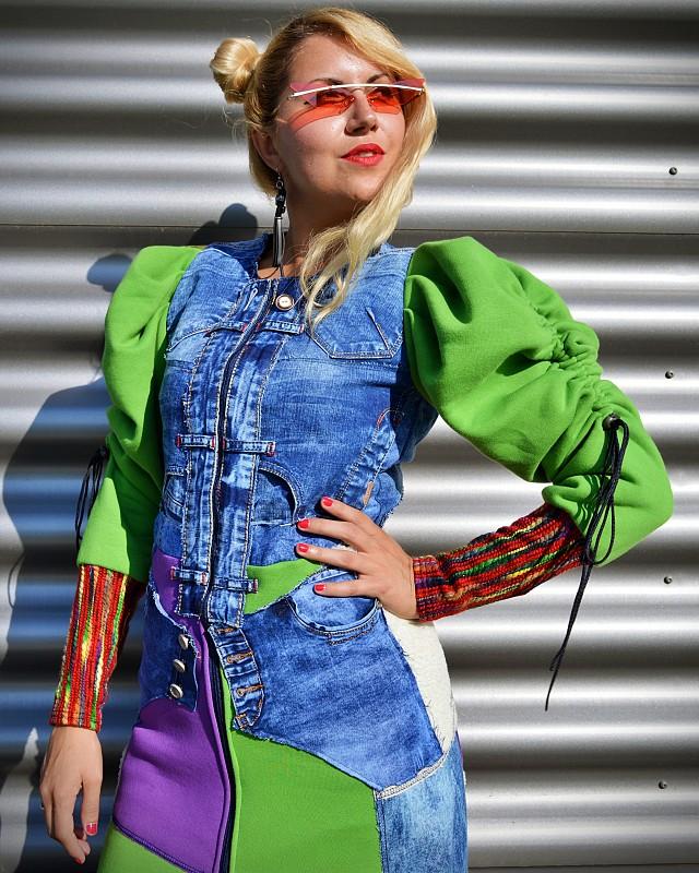 hippie jean coat