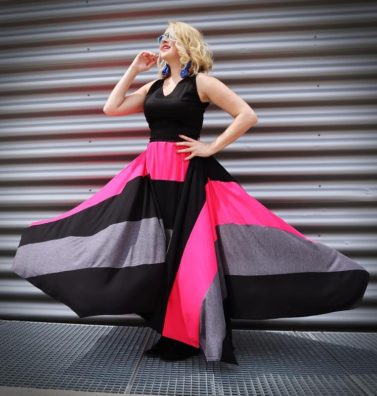 long twirl dress