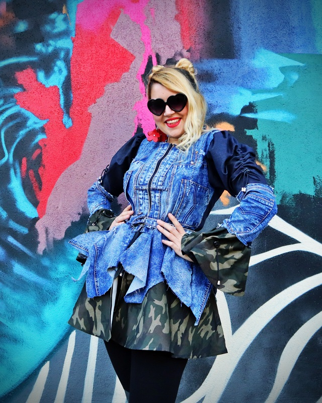 patchwork camo jacket