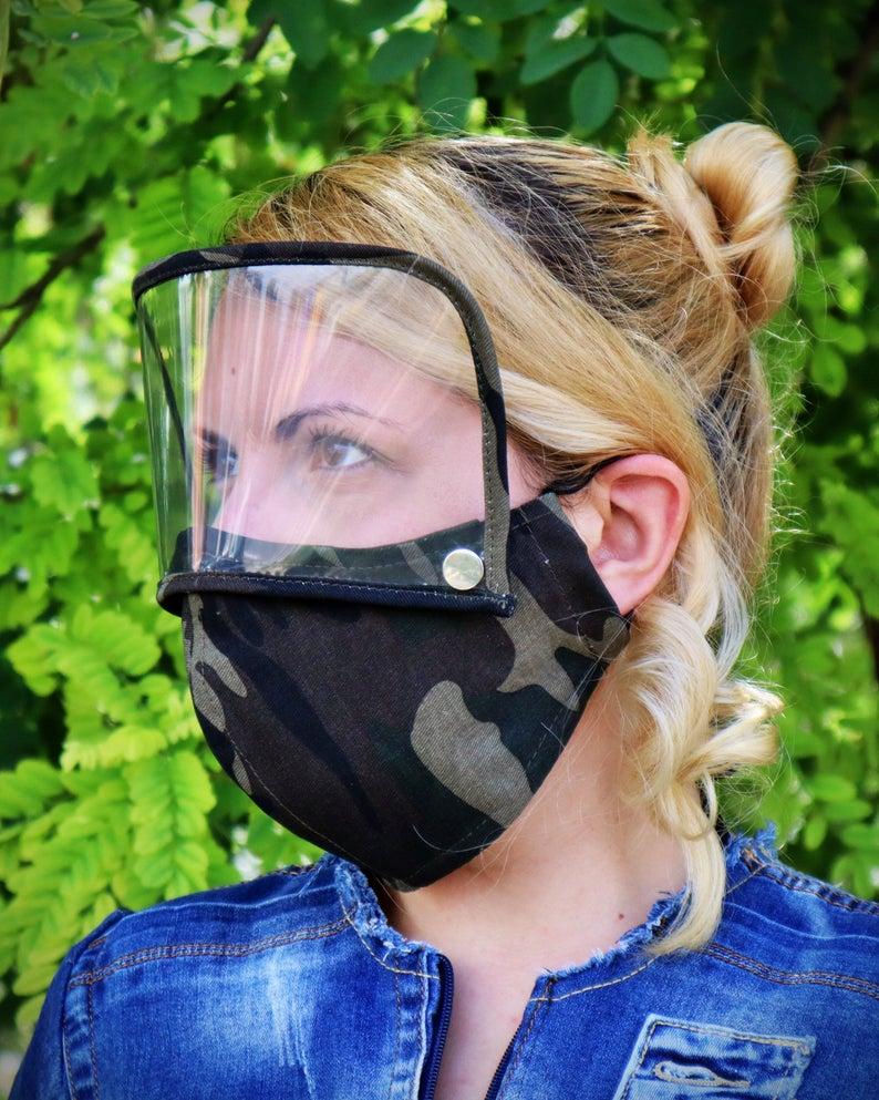mask with shield visor