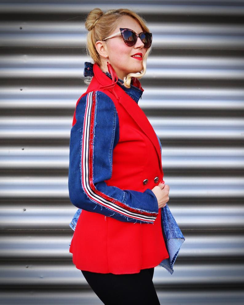 wool denim jacket