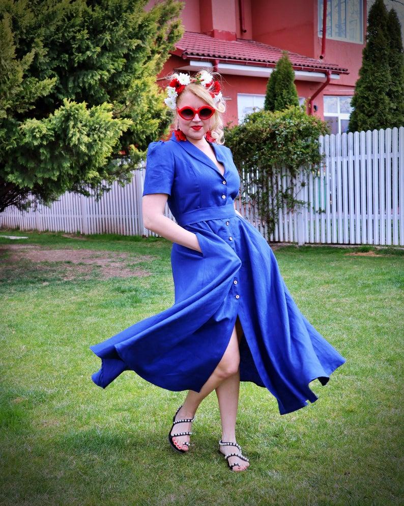 maxi flax dress